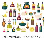 aromatherapy icon set with... | Shutterstock .eps vector #1642014592