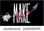 make love slogan with love word ...   Shutterstock .eps vector #1642050595