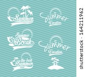 summer design over blue  ... | Shutterstock .eps vector #164211962