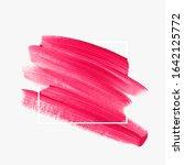 beautiful bright pink brush... | Shutterstock .eps vector #1642125772