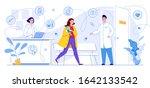 information poster. children's...   Shutterstock .eps vector #1642133542