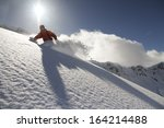 snowboard freerider  in the... | Shutterstock . vector #164214488