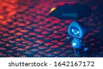 Lonely Little Cute Blue Robot...