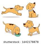 sitting  running  smiling ...   Shutterstock .eps vector #1642178878