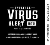 font virus alert. craft retro... | Shutterstock .eps vector #1642181695
