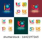 set of anniversary logotype...   Shutterstock .eps vector #1642197265