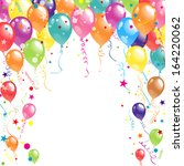 color beautiful party balloons  ... | Shutterstock .eps vector #164220062