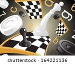 illustration of chess | Shutterstock .eps vector #164221136