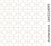 decorative seamless geometric... | Shutterstock .eps vector #1642214095
