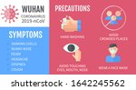 precautions in wuhan... | Shutterstock .eps vector #1642245562