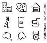 set of real estate icons.... | Shutterstock .eps vector #1642248208