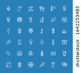 editable 36 cold icons for web... | Shutterstock .eps vector #1642253485