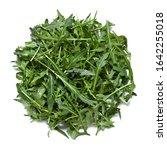 Small photo of rocket salad, argula salad, garden rocket, Eruca vesicaria, Eruca sativa, isolated on white background