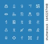 editable 25 staff icons for web ... | Shutterstock .eps vector #1642257448
