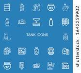 editable 22 tank icons for web... | Shutterstock .eps vector #1642259902