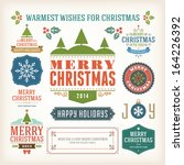 christmas decoration vector... | Shutterstock .eps vector #164226392
