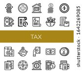 tax icon set. collection of... | Shutterstock .eps vector #1642269085
