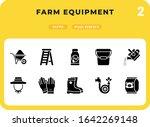 farm equipment glyph icons pack ...