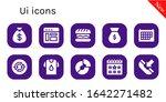 ui icon set. 10 filled ui icons....