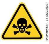 skull and bones warning sign ... | Shutterstock .eps vector #1642293538
