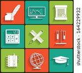 school and education vector... | Shutterstock .eps vector #164229932