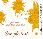 invitation or wedding card with ... | Shutterstock .eps vector #164230316