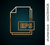 gold line eps file document.... | Shutterstock .eps vector #1642304428