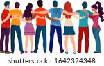 group of people of different... | Shutterstock .eps vector #1642324348