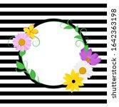 Spring Inspired Flower Vector...