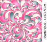 silk texture fluid shapes ... | Shutterstock .eps vector #1642378825