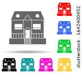 house with veranda multi color...
