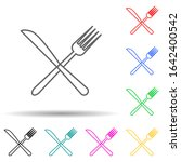 fork and knife multi color...