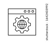 browser  gear  global  seo icon....