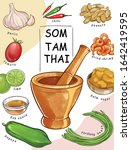 green papaya salad  som tam... | Shutterstock .eps vector #1642419595