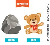 opposite adjectives with... | Shutterstock .eps vector #1642454242