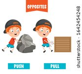 opposite adjectives with... | Shutterstock .eps vector #1642454248