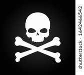 scull icon. attention  danger ... | Shutterstock .eps vector #1642466542