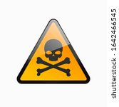 scull icon. attention  danger ... | Shutterstock .eps vector #1642466545