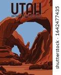 utah vector illustration... | Shutterstock .eps vector #1642477435