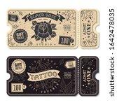 tattoos gift vouchers.... | Shutterstock .eps vector #1642478035