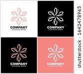 abstract elegant flower logo...   Shutterstock .eps vector #1642478965