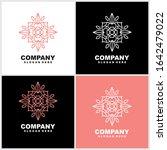abstract elegant flower logo...   Shutterstock .eps vector #1642479022