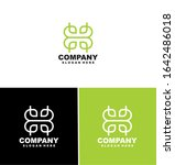 abstract elegant flower logo... | Shutterstock .eps vector #1642486018
