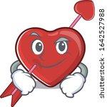 cool heart and arrow mascot... | Shutterstock .eps vector #1642527988