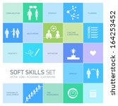 soft skills vector icons and... | Shutterstock .eps vector #164253452
