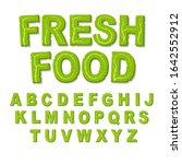 vector green eco alphabet....   Shutterstock .eps vector #1642552912