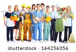 group of business people... | Shutterstock . vector #164256356