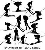 skiing collection   vector | Shutterstock .eps vector #164258882