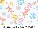 abstract pastel hand drawn... | Shutterstock .eps vector #1642590472