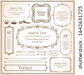 beautiful decoration set ... | Shutterstock .eps vector #1642631725